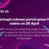 FURLOUGH SCHEME PORTAL OPENS FOR CLAIMS ON 20 APRIL 2020